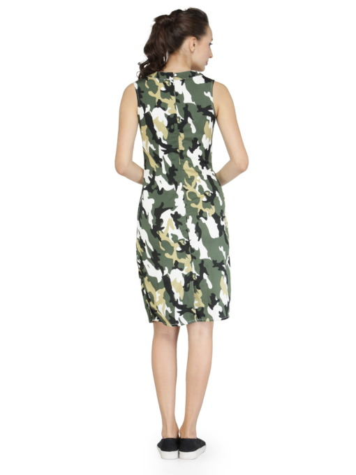 Olive Camouflage Bodycon Dress